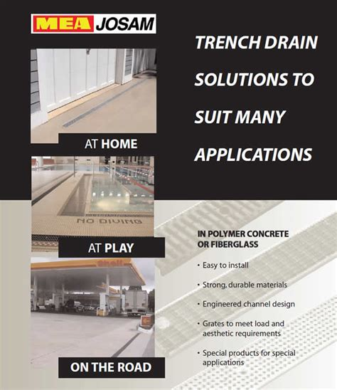 josam trench floor drains mea josam trench drain manufacturer info page pro plus