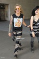 Ralph Saenz from Steel Panther seen at BBC Radio One on ...