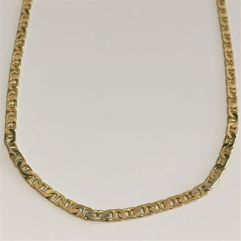 sterling silver gold plated chain necklace flat anchor