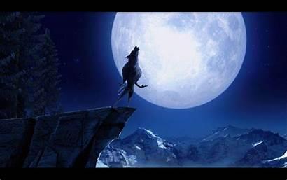 Howling Wolf Moon Wallpapers Werewolf Desktop Widescreen