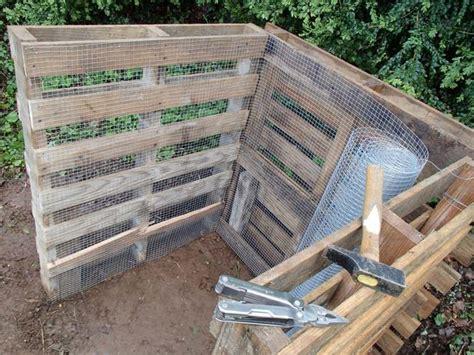 fabriquer composteur palette composteur bois palette bande transporteuse caoutchouc