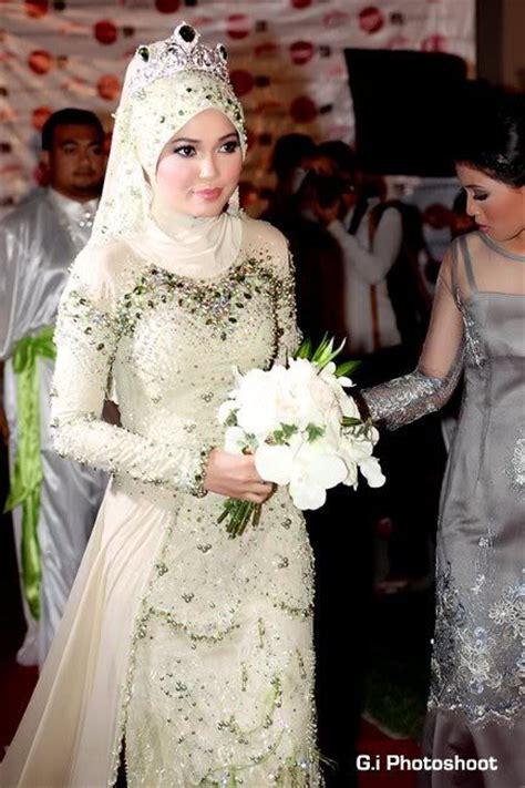 model baju pengantin nikah berjilbab cantik elegan
