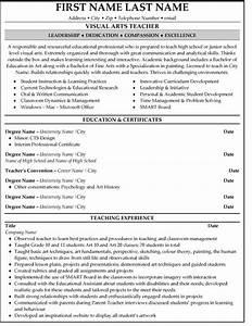 top arts resume templates samples With art teacher resume template