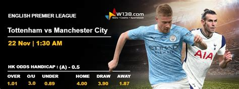 ENGLISH PREMIER LEAGUE - Tottenham vs Manchester City ...