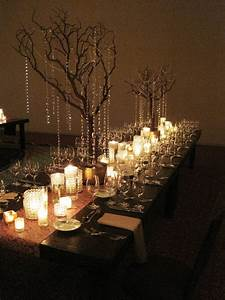 Encore centerpieces white crystal vases, rustic tree