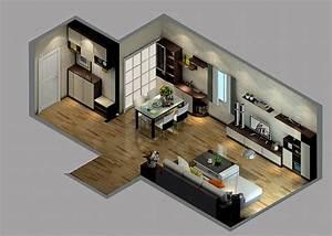 Elegant house decoration sky view 3D House