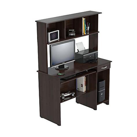 espresso computer desk with hutch inval computer workcenter with hutch espresso wengue by