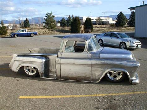 custom truck sales 1956 chevy swb pick full custom project bagged for sale