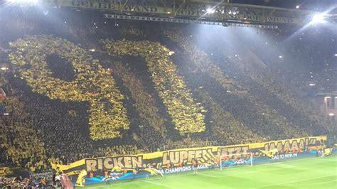 dortmund fans impress   massive tifo sbnationcom