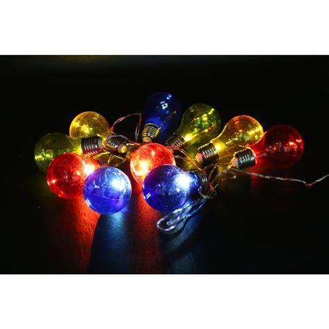 alpine 10 light multi color led light bulbs with edison