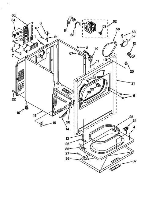 Kitchenaid Parts Dryer by Kitchenaid Electric Dryer Bulkhead Parts Model