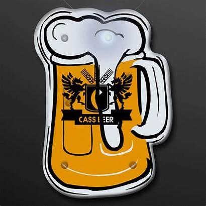 Beer Mug Flashing Blinking Badge Led Drink