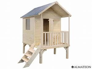 Maison En Bois Enfant : maison sur lev e en bois pour enfants kangourou 167 x ~ Nature-et-papiers.com Idées de Décoration