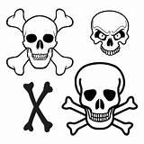 Skull Crossbones Printable Pirate Template Coloring Ship Printablee Via Flags sketch template