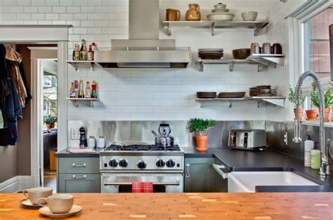 add sleek shine to your stainless steel kitchen wall shelves www pixshark com
