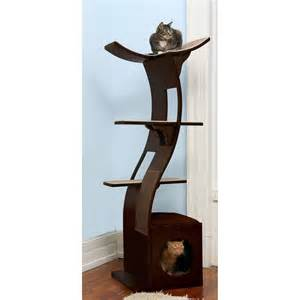 cat towers for the refined feline lotus cat tower in