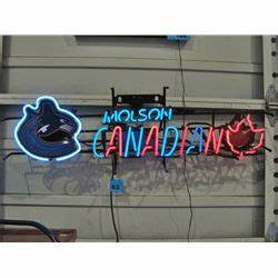 Vancouver canucks molson canadian neon sign