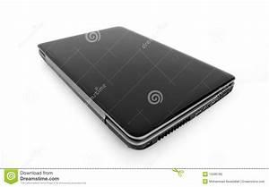 Closed Laptop Isolated Stock Photo - Image: 15596780