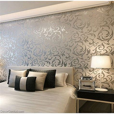 3d Hd Wallpapers Bedroom by Popular 3d Design Silver Bedroom Wallpaper Modern Style