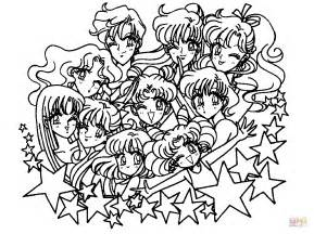 Sailor Moon Stars Coloring Page