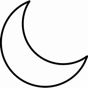 Crescent Moon - Free nature icons