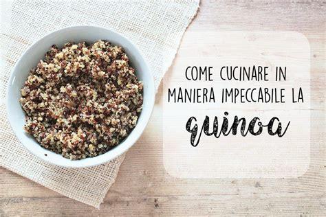 quinoa cucinare come cucinare in maniera impeccabile la quinoa ricette