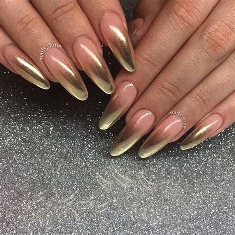 pin  tramell  tramell   gold nails gold