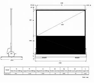 Dimension Tv 65 Pouces : ldlc ecran portable manuel format 4 3 120 x 90 cm ~ Melissatoandfro.com Idées de Décoration