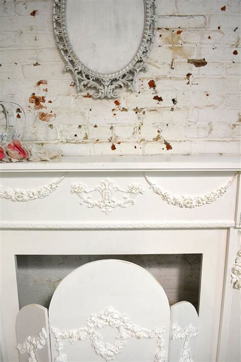 Painted Cottage Shabby Chic Fireplace Screen [screen