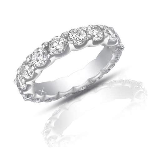 4 00 ct ladies round cut diamond eternity wedding band ring