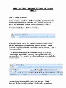 Barra De Herramientas Y Barra De Acceso R U00c1pido Excel