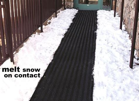 Snow Melting Heat Mats, Snow & Ice Melting Systems, Heated