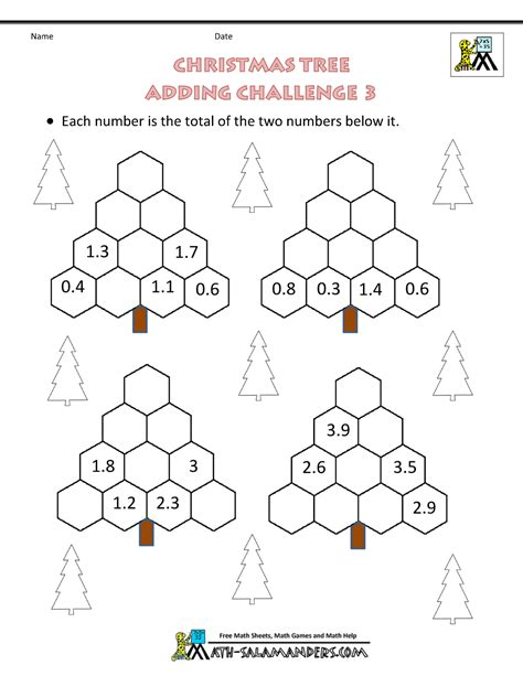 Christmas Math Worksheets (harder
