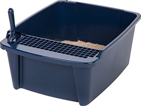 hooded litter box canada iris large split litter box with scoop and grate