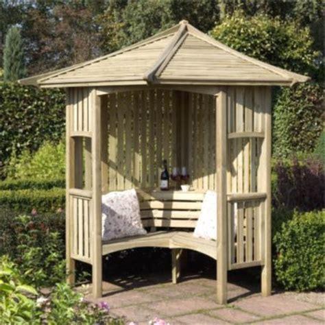 solway wooden corner arbour home