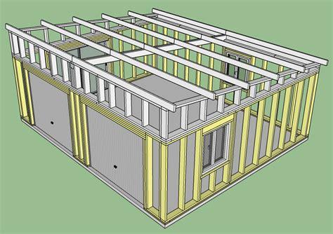 Construction D'un Garage Double En Ossature Bois