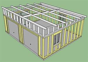 construction d39un garage double en ossature bois With plan de garage en parpaing