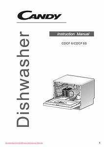 Candy Cdcf 6 Dishwasher User Guide Manual Operating