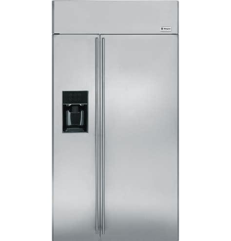 ge monogram  built  side  side refrigerator  dispenser zissdxss ge appliances