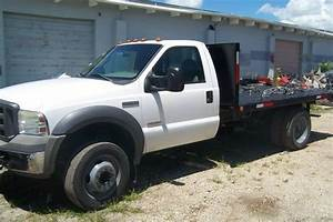 Buy Used 2005 Ford F450 Xl Diesel Flat Bed Low Miles