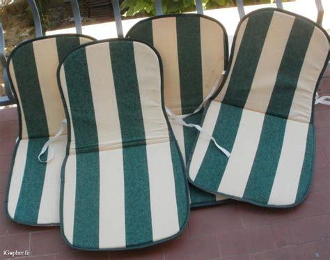 coussins de chaise 4 coussins pour chaises de jardin igopher fr
