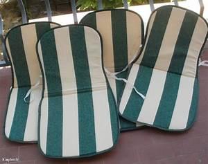 Coussins Chaises De Jardin : 4 coussins pour chaises de jardin ~ Dode.kayakingforconservation.com Idées de Décoration