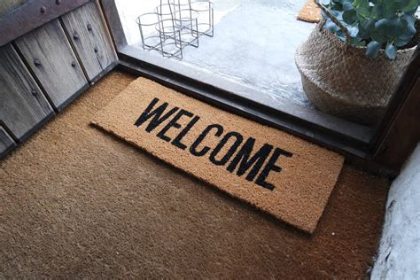 Welcome Mat by Welcome Door Mat By Peastyle Notonthehighstreet
