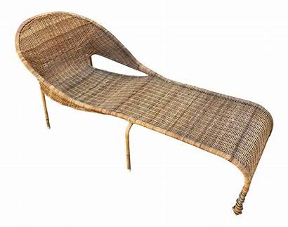 Lounger Curved Chair Chairish Wicker Lounge