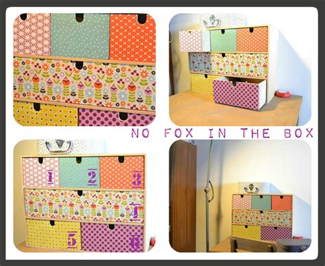 papier a coller sur meuble pimp ta commode no fox in the box