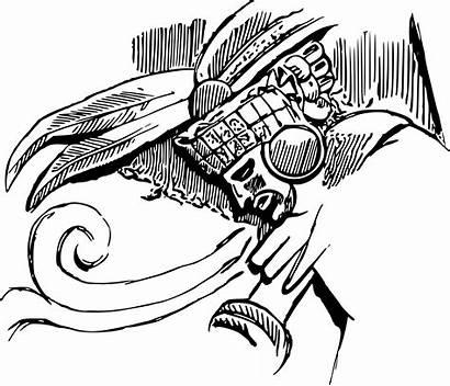 Clipart Warrior Maya Headdress Mayan Drawing Aztlan