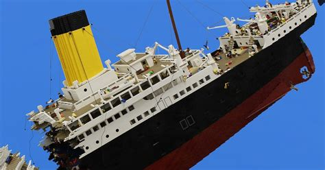 Lego Ship Sinking Titanic by The Detail On This 120 000 Lego Model Of The Titanic
