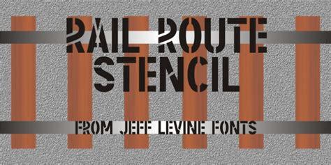 Rail Route Stencil Jnl Font Download