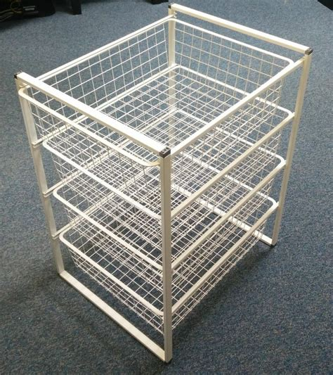 ikea antonius wire racking storage unit baskets draws warehouse garage wardrobe rack