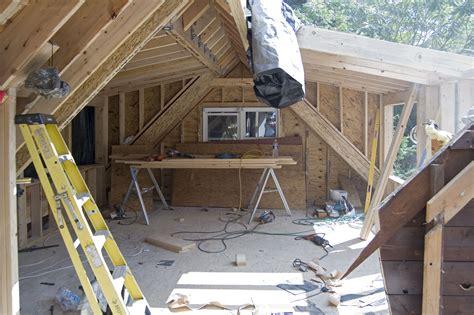 Attic Shed Dormer by Driveway Side Bedroom Demo For Dormer Addition Attic